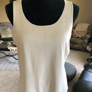 Eileen Fisher Soft Grey Knit Tank Top Size Medium